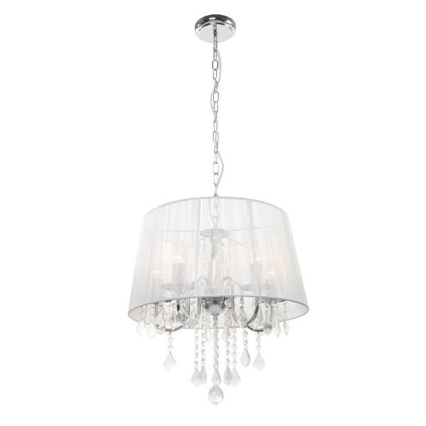 Lampa wisząca Mona 3 srebrna kryształki LP-5005/3P - Light Prestige Do -17% rabatu w koszyku i darmowa dostawa od 299zł !