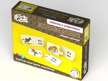 Puzzle Edukacyjne - Angielski - Alfabet zwierząt 52 zZuple