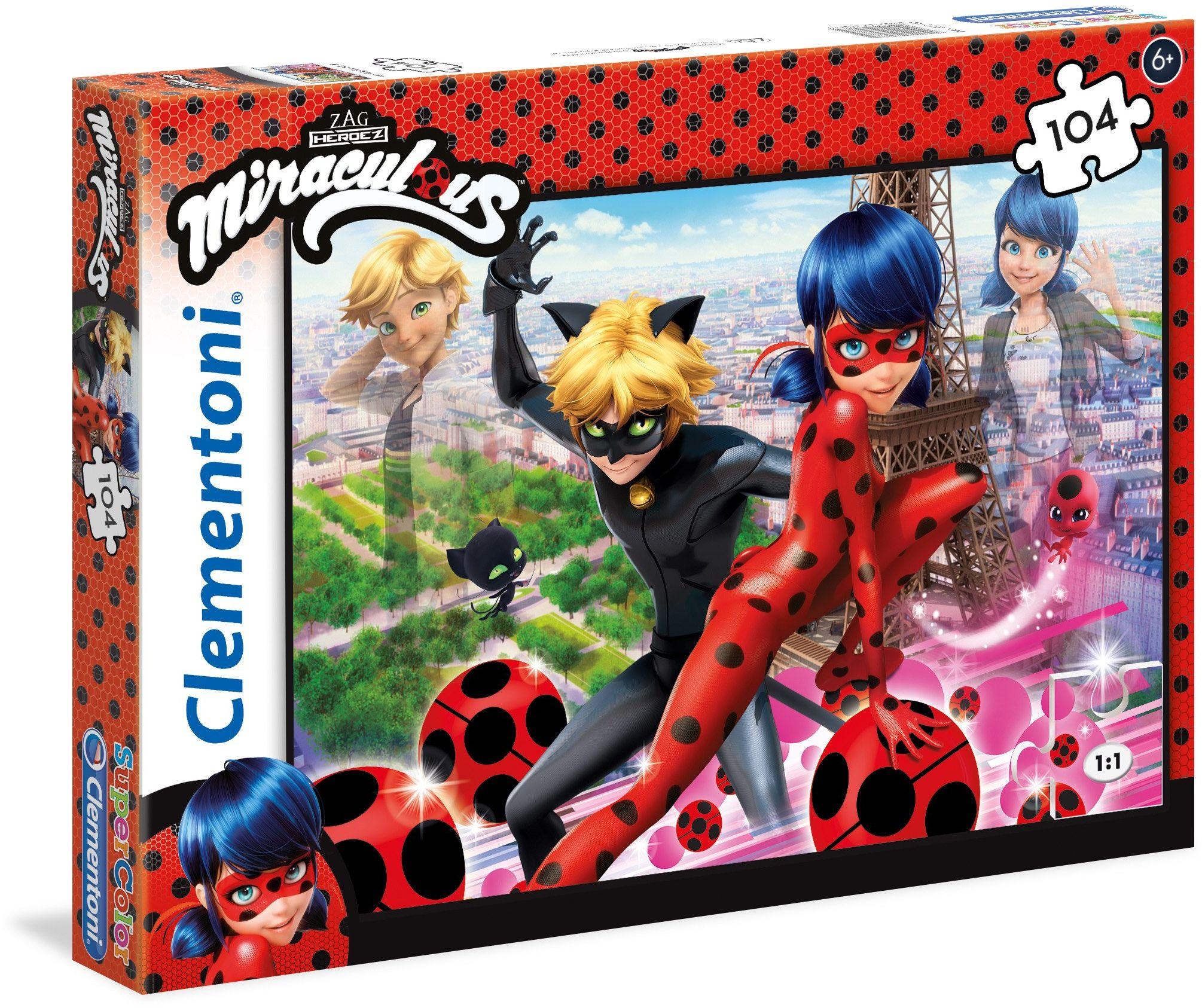 Clementoni 27077 Miraculous: Tales of Ladybug & Cat Noir Miracolous Puzzle, 104 części