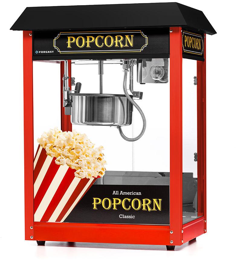 Maszyna do popcornu z czarnym daszkiem