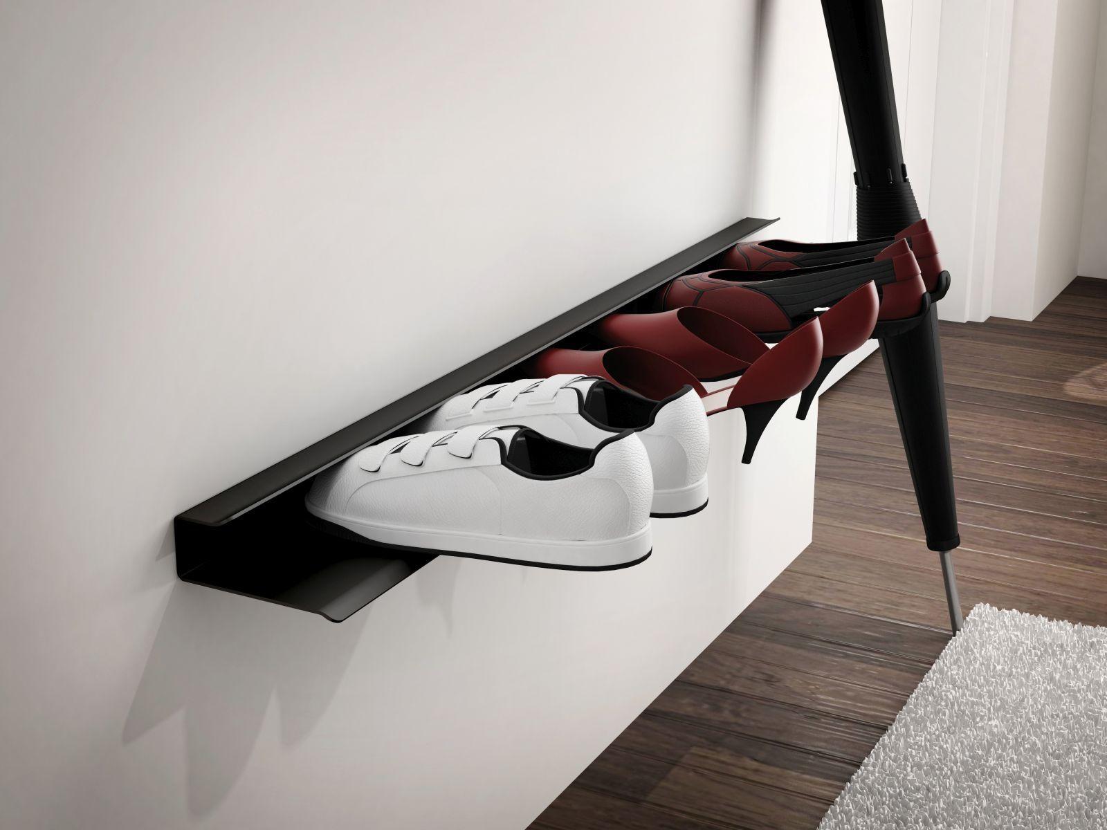 Półka na buty BOOT czarna