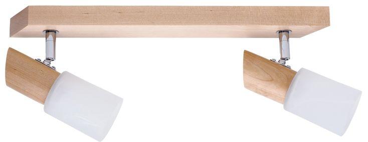 Spot Light 2222260 Birgit spot oprawa natynkowa brzoza klosze szkło alabaster 2xE14 40W IP20 39cm