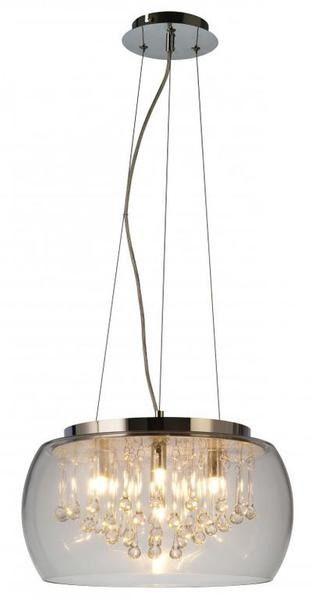 Lampa wisząca Luce RLD92132-5 Zuma Line transparentna oprawa w stylu kryształowym