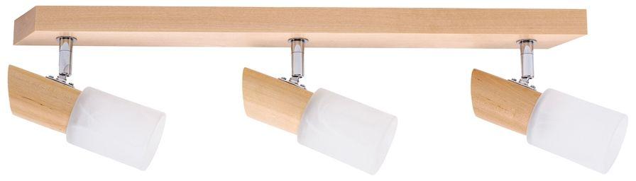 Spot Light 2222360 Birgit listwa oświetleniowa drewno brzoza klosze szkło alabaster 3xE14 40W IP20 55cm