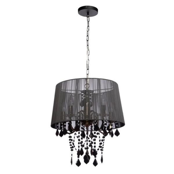 Lampa wisząca Mona 3 czarna kryształki LP-5005/3P - Light Prestige Do -17% rabatu w koszyku i darmowa dostawa od 299zł !
