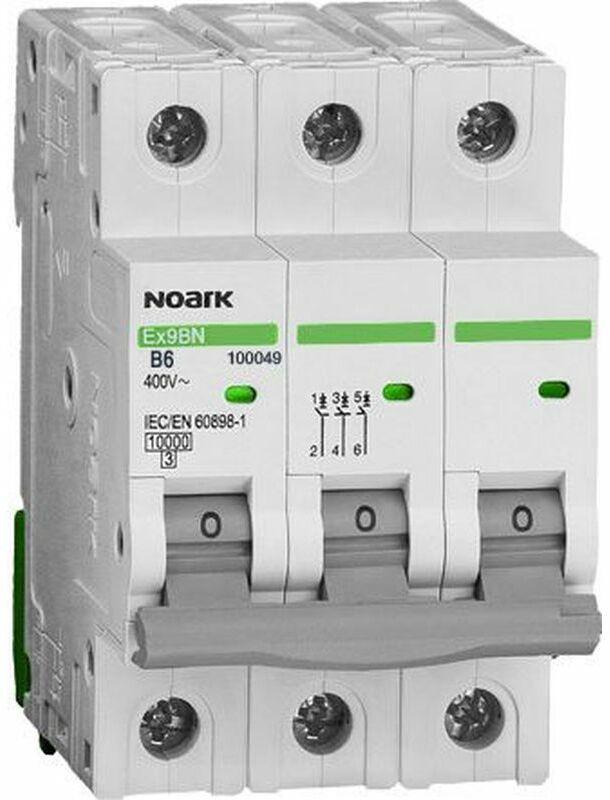 Wyłącznik nadprądowy 3P C 16A 6kA AC NOARK 100143