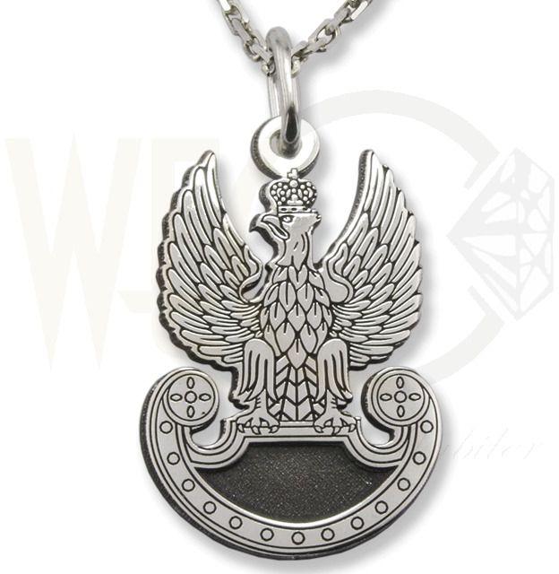 Wisiorek z łańcuszkiem pr. 0,925 orzełek wojska polskiego orzeł-2
