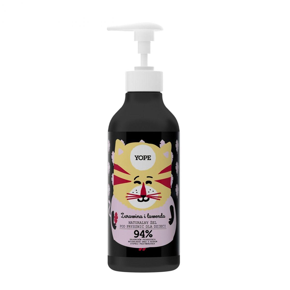 Naturalny Żel pod Prysznic dla Dzieci - Żurawina i Lawenda - 400ml - Yope