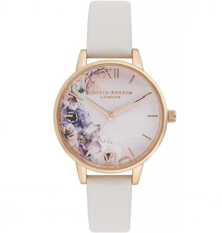 Zegarek damski Olivia Burton Watercolour Florals Midi Dial Watch OB16PP54