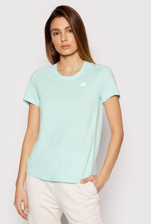 T-Shirt Own The Run Soft GN1916 Zielony Regular Fit
