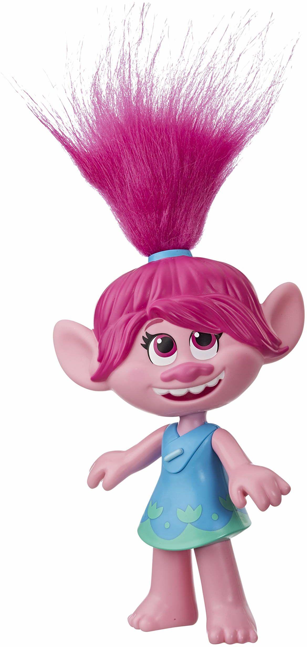 DreamWorks Trolls World Tour Superstar lalka makowa, śpiewa Trolls Just Want to Have Fun, lalka śpiewająca, zabawka dla dzieci 4 i więcej
