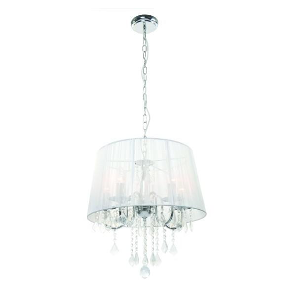 Lampa wisząca Mona 5 srebrna kryształki LP-5005/5P - Light Prestige Do -17% rabatu w koszyku i darmowa dostawa od 299zł !