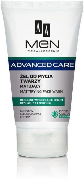 AA AA Men Adventure Care Żel do mycia twarzy matujący 150ml