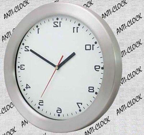 Anty-zegar ścienny aluminiowy