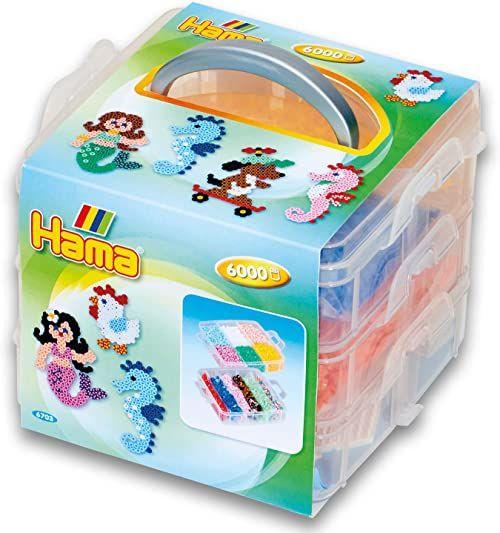 Hama Perlen 6703 Midi koraliki do prasowania, zestaw prezentowy, kolorowe