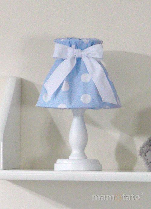 MAMO-TATO Lampka Nocna Grochy niebieskie