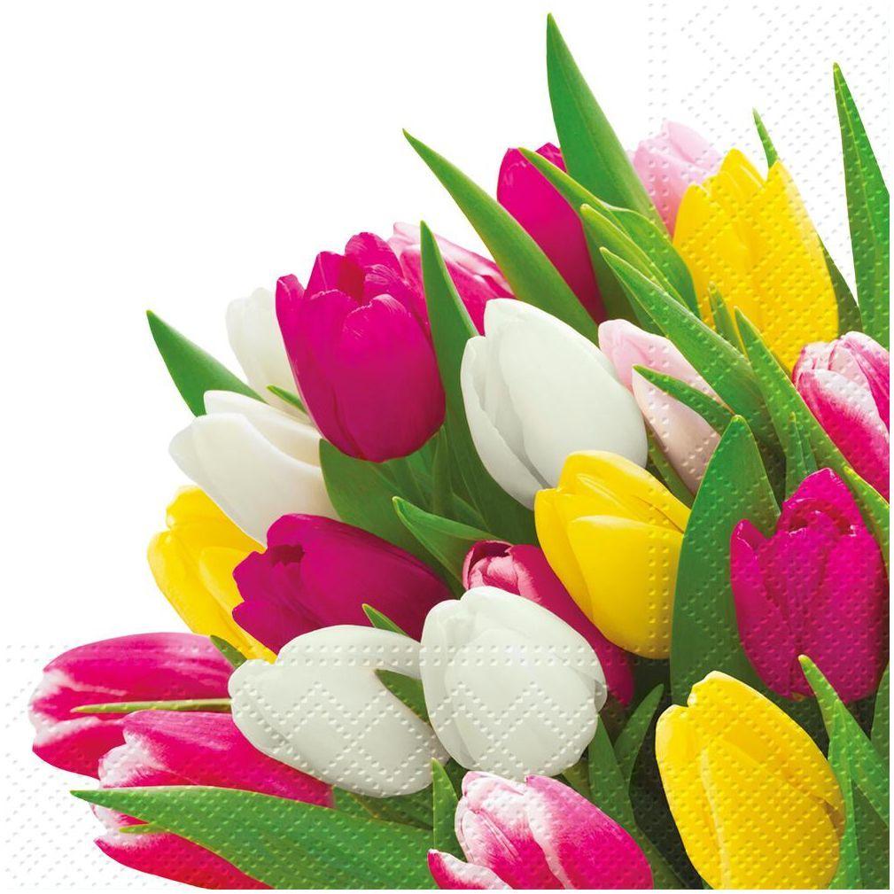 Serwetki Bunch of tulips 33 x 33 cm 20 szt.