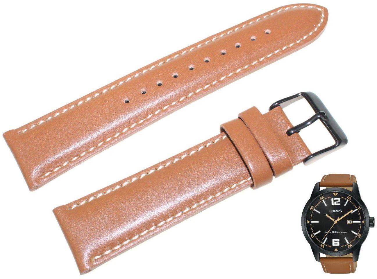 Skórzany pasek do zegarka 22 mm Lorus RH985HX9