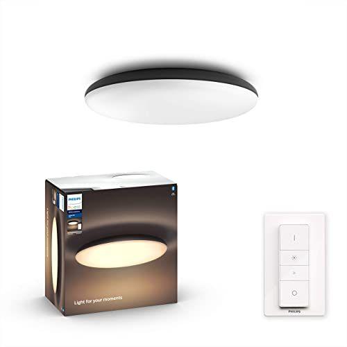 Philips Hue Cher White Ambiance Lampa sufitowa LED, czarna, szeroka paleta odcieni bieli + Bezprzewodowy regulator przyciemniania