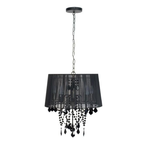 Lampa wisząca Mona 5 czarna kryształki LP-5005/5P - Light Prestige Do -17% rabatu w koszyku i darmowa dostawa od 299zł !