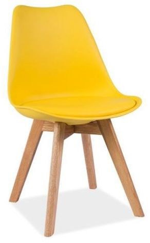 Krzesło KRIS żółte/dąb  Kupuj w Sprawdzonych sklepach
