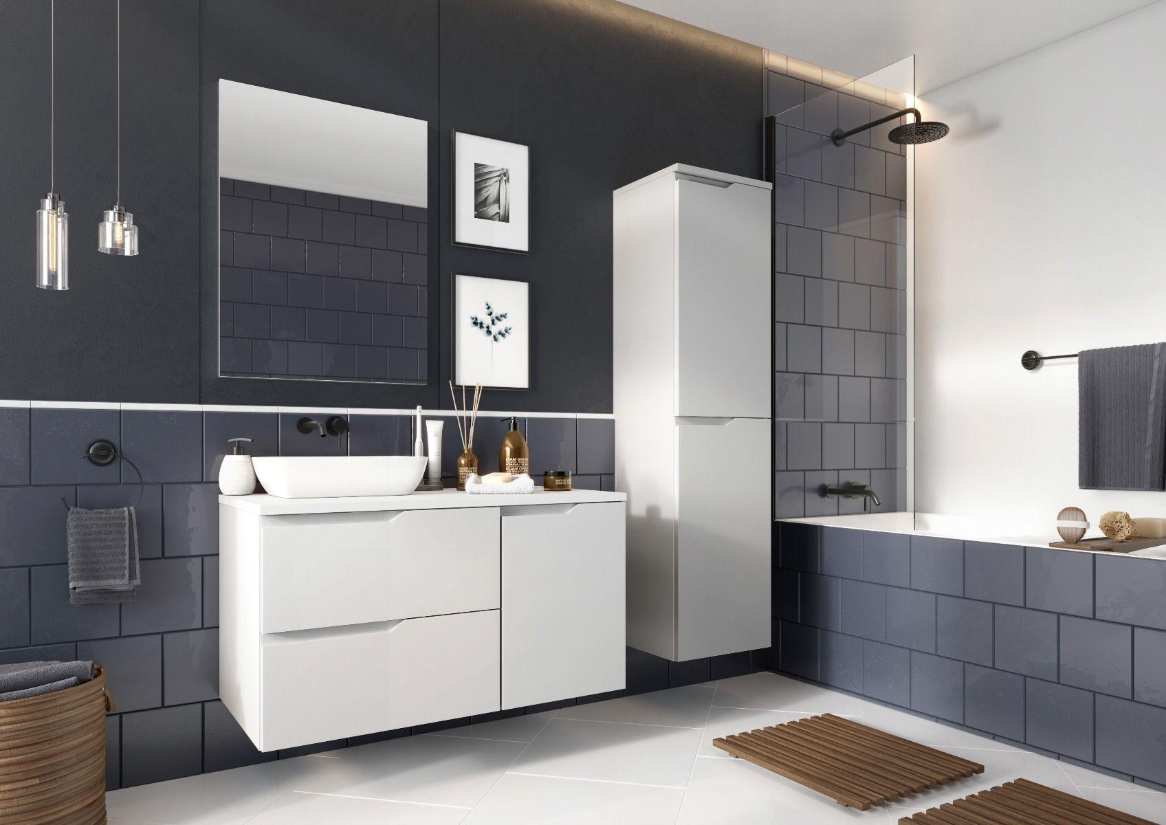 Szafka łazienkowa NICEA D40 L biała  Kupuj w Sprawdzonych sklepach