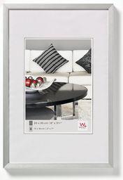 walther design AJ040S krzesło, aluminiowa rama 11,75 x 15,75 cala (30 x 40 cm), srebrny