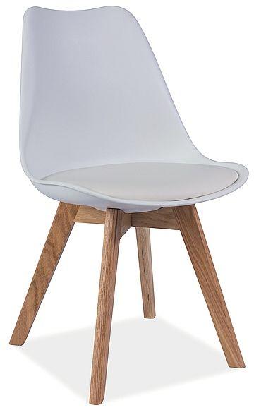 Krzesło KRIS białe/buk  Kupuj w Sprawdzonych sklepach