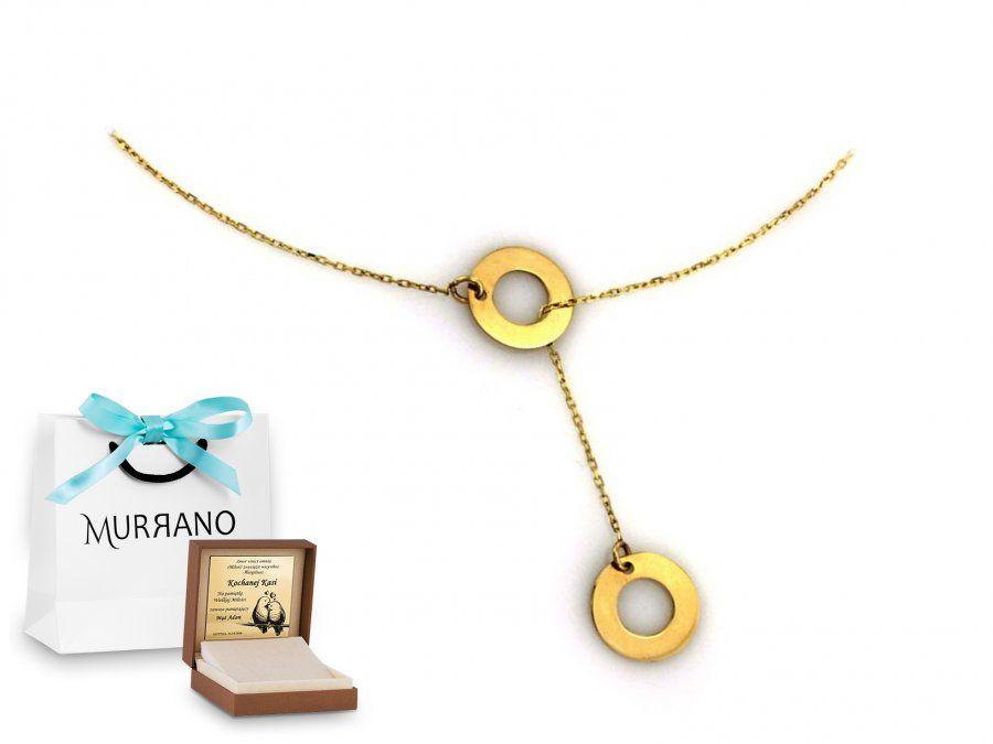 Złoty naszyjnik 333 długi prezent grawer