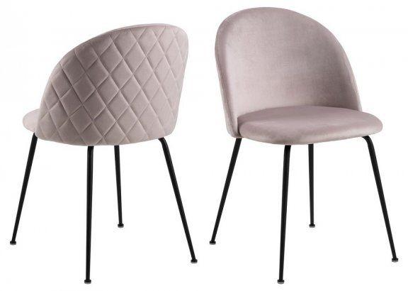 Krzesło Louise - jasnoróżowe