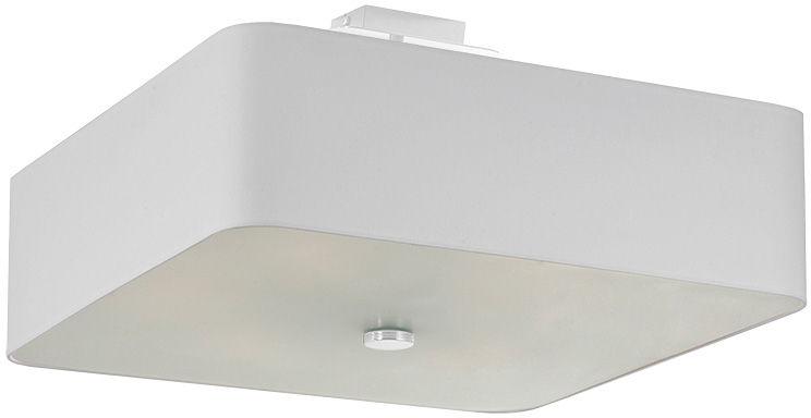 Biały kwadratowy plafon minimalistyczny - EX667-Lokki