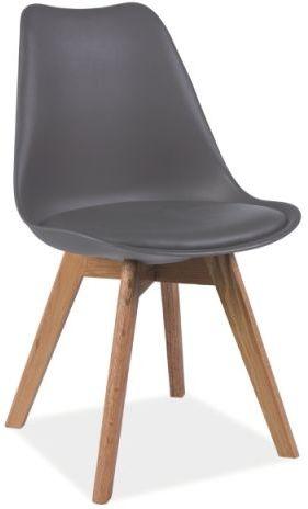 Krzesło KRIS szare/buk  Kupuj w Sprawdzonych sklepach