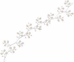 A&A Grzebień do włosów z perłowymi kwiatami i klipsami, 0,15 kg