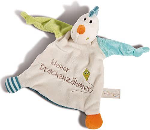 """NICI Chustka smoka Draguli """"Mały smok"""" 25 x 25 cm  ręcznik dla dzieci i małych dzieci  przytulanka dla niemowląt i małych dzieci  niemowlęta przytulanka / chusta  przytulanka dla chłopców  43709"""