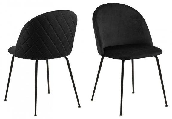 Krzesło Louise - czarne
