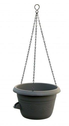 Doniczka samonawadniająca na łańcuchu Antracyt, 30 cm Uno Siesta