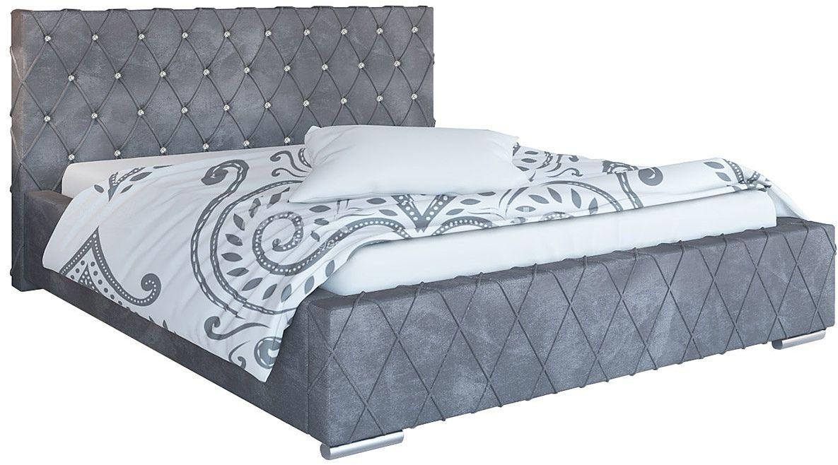 Pikowane pojedyncze łóżko 90x200 Loban 2X - 48 kolorów