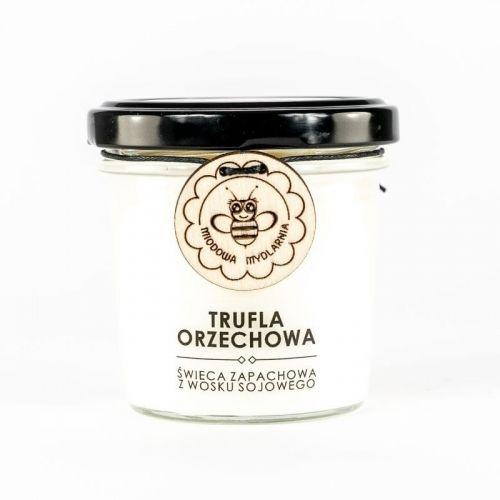 Świeca z wosku sojowego TRUFLA ORZECHOWA Miodowa Mydlarnia, 120ml