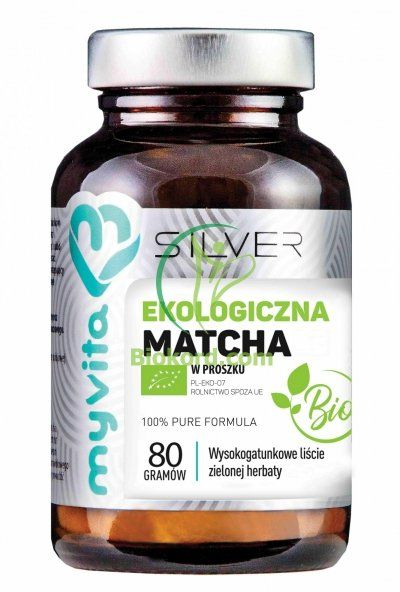 Matcha BIO Proszek 100% SILVER PURE Myvita, 80g