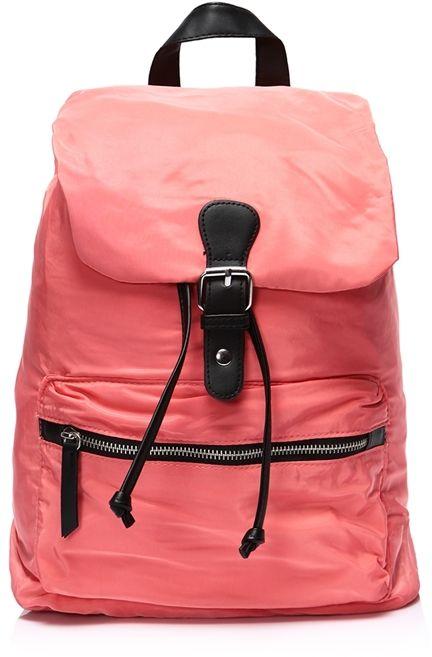 Plecak damski nylonowy Portillo NEON Pink