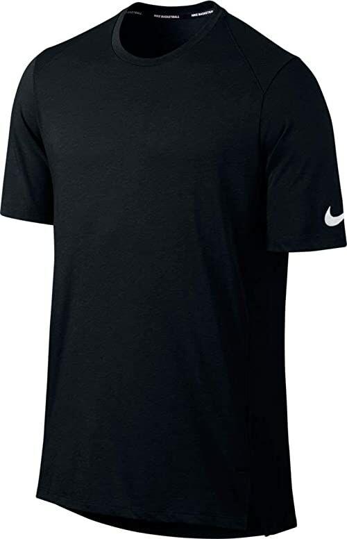 Nike Męski T-shirt do koszykówki Breathe Elite, czarny/biały, XL