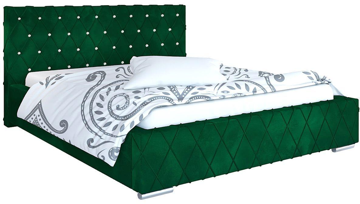Tapicerowane pojedyncze łóżko 120x200 Loban 2X - 48 kolorów