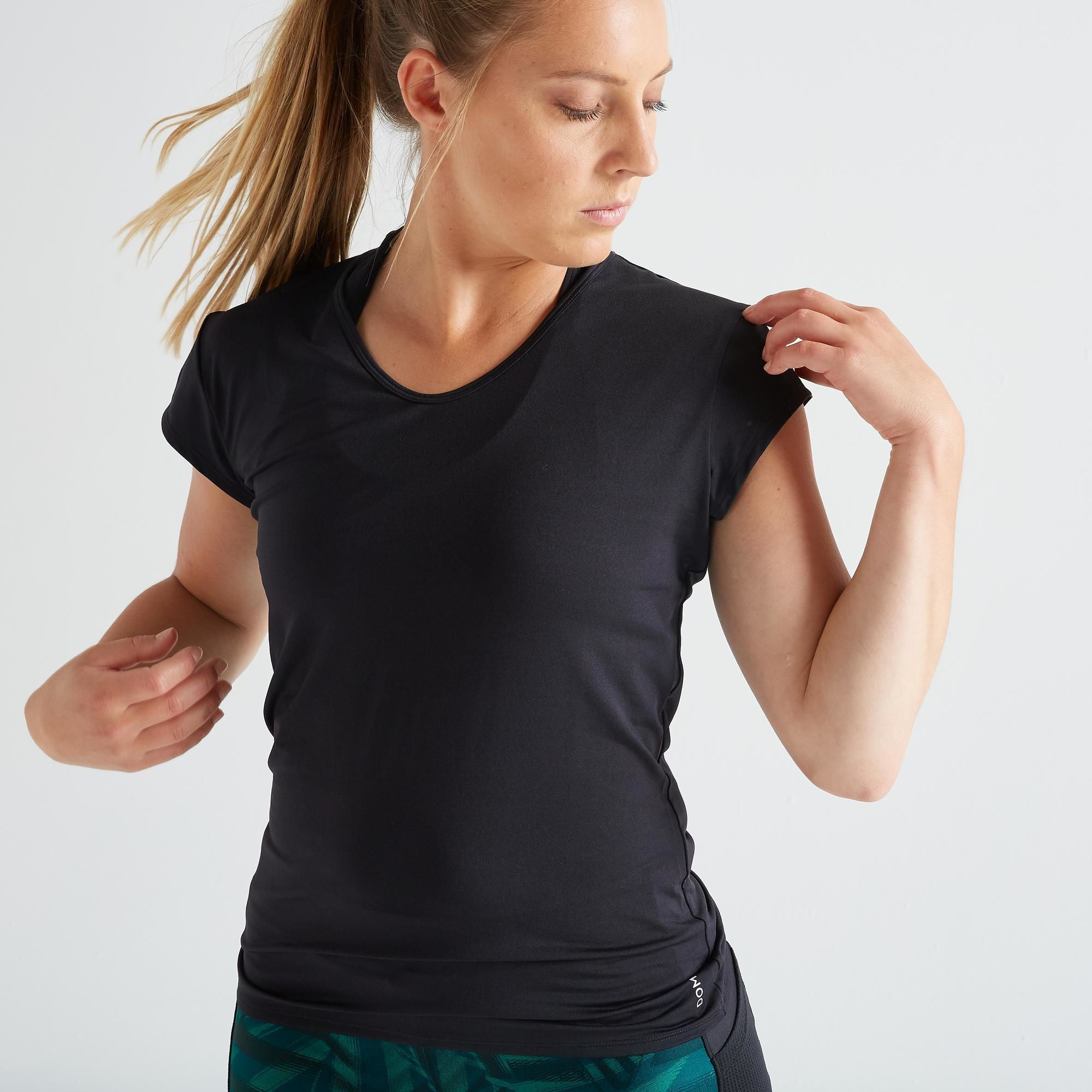 Koszulka fitness krótki rękaw slim