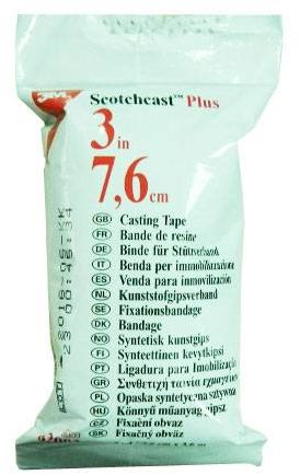Lekki Gips Syntetyczny WODOODPORNY 7,6cm x 3,6m (scotchcast 3M)