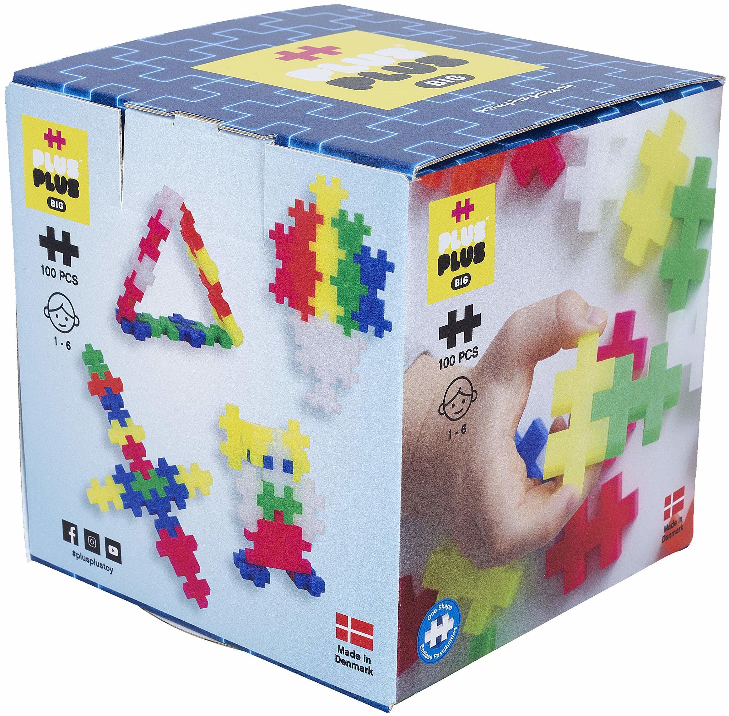 Plus-Plus 9603411 kreatywne klocki, zestaw Big Neon, genialna zabawka konstrukcyjna, 100 części