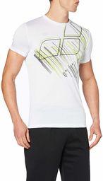 ARENA Arena męska koszulka sportowa Tech Sport Shirt biały White-printed Logo M