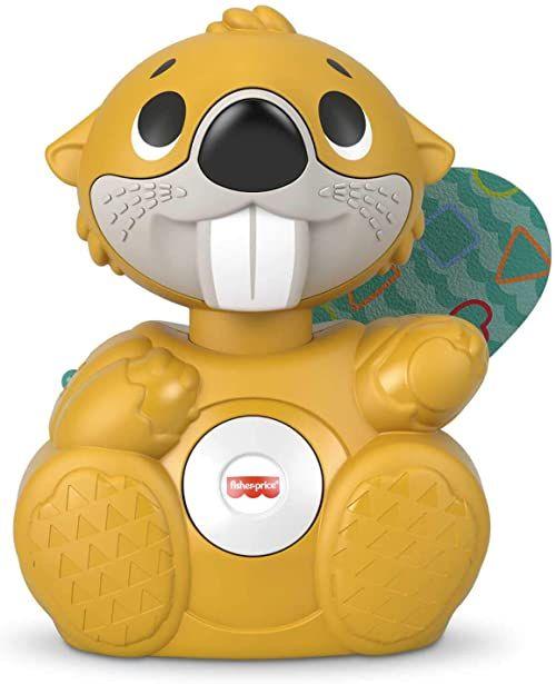 Fisher-Price GXD82 - Linkimals Interaktywny Bóbr muzyczna zabawka aktywizująca ze światełkami (polska wersja językowa)