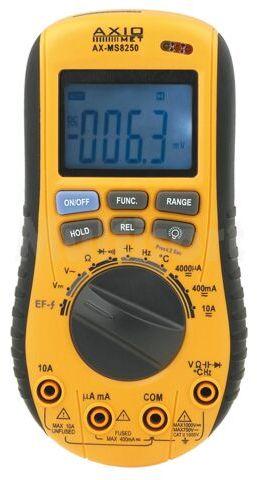 Multimetr cyfrowy AX-MS8250 z wykrywaczem napięcia