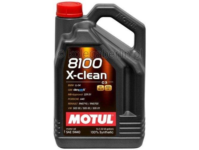 Olej silnikowy Motul 8100 X-Clean C3 5W40 5L