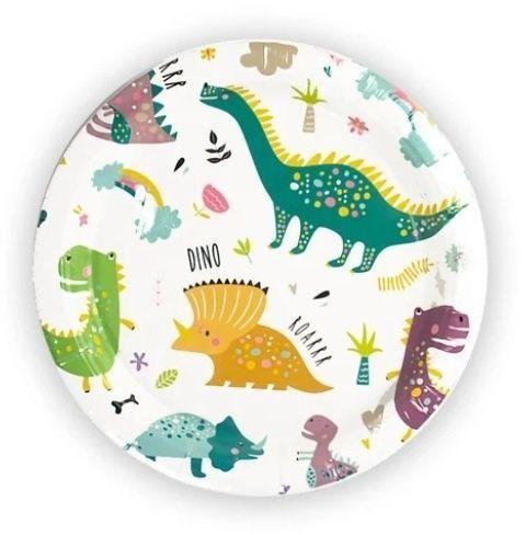 Talerzyki papierowe Dinozaury Dino Party 18cm 6 sztuk 510810